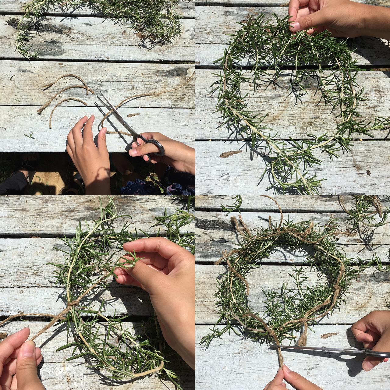 キッズクラフト ローズマリー 麻紐 ヘンプコード ハサミ rosemary hemp cord